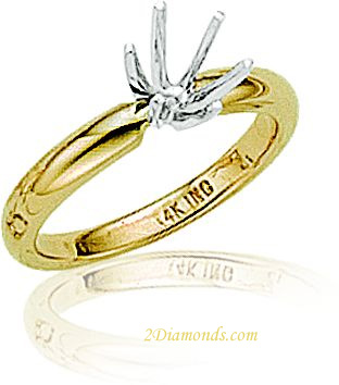 LADIES COMFORTABLE FIT 3MM SOLITAIRE-6 PRONG
