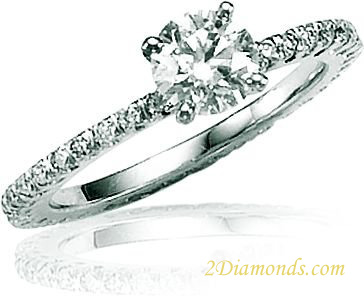 LADIES FISHTAIL ETERNITY Engagement Ring-SIZE 6